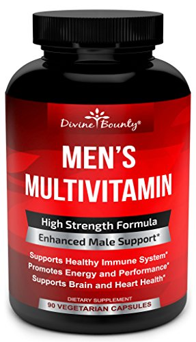 Mens Multivitamin – Daily Multivitamin for Men with Vitamin A C D E K B Complex, Calcium, Magnesium, Selenium, Zinc PLUS Heart, Brain, Immune, and Men