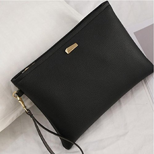 Bag Women Leather Clutch Female size one Clutch Bag Brezeh Black Handbag Bag Black Bag Clutches Fashion XrqTIr