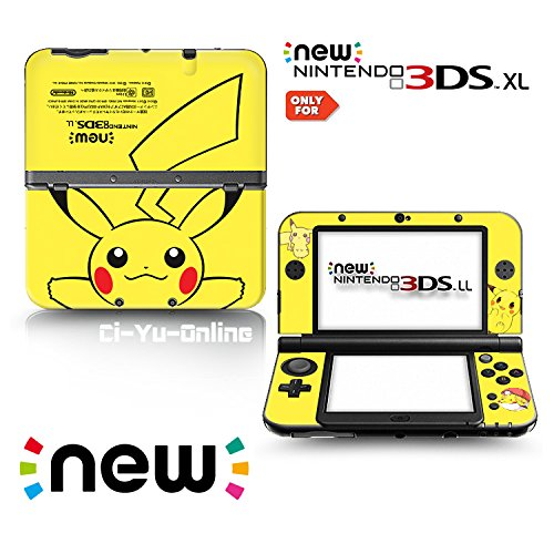 Ci-Yu-Online VINYL SKIN [new 3DS XL] - Pokemon #1 Pikachu Yellow - Limited Edition STICKER DECAL COVER for NEW Nintendo 3DS XL / LL Console System