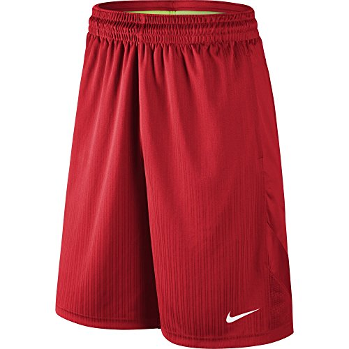 University Mens Basketball - NIKE Men's Layup 2 Shorts, University Red/University Red/White, XX-Large