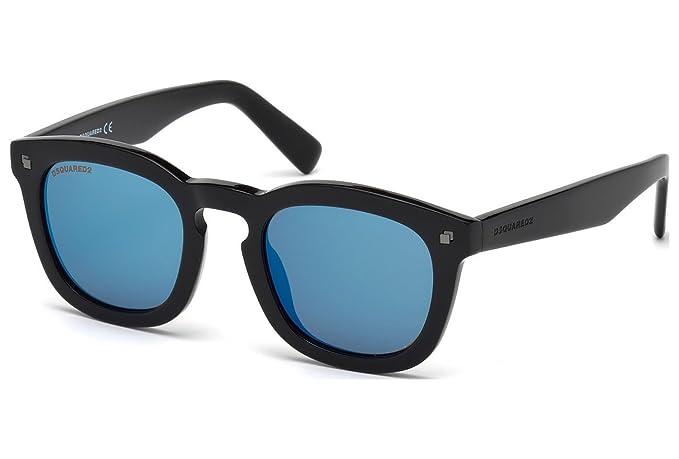 Gafas de sol DSquared2 DQ0198 C49 01X (shiny black / blu ...