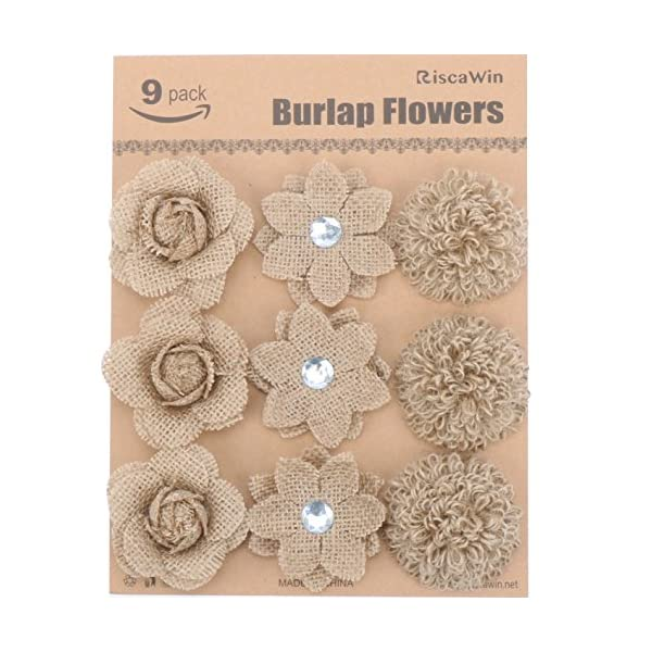 Wedding-Decorations-Small-Burlap-Flowers-RiscaWin-Handmade-Crafts-Flowers-Natural-Hessian-Flowers-Burlap-Lotus-Dandelion-Rose-Vintage-for-DIY-Craft-Birthady-Party-Home-Decoration-Centerpieces-9-Pcs
