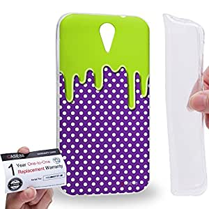 Case88 [HTC Desire 620] Gel TPU Carcasa/Funda & Tarjeta de garantía - Art Fashion Melting Dotted Pattern Art1233