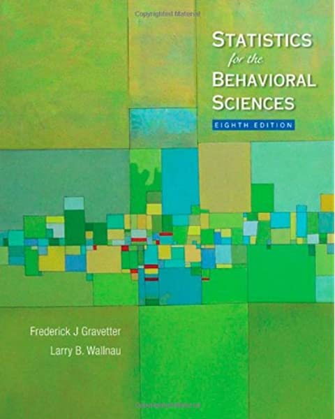 Amazon Com Statistics For The Behavioral Sciences Available Titles Aplia 9780495602200 Gravetter Frederick J Wallnau Larry B Books