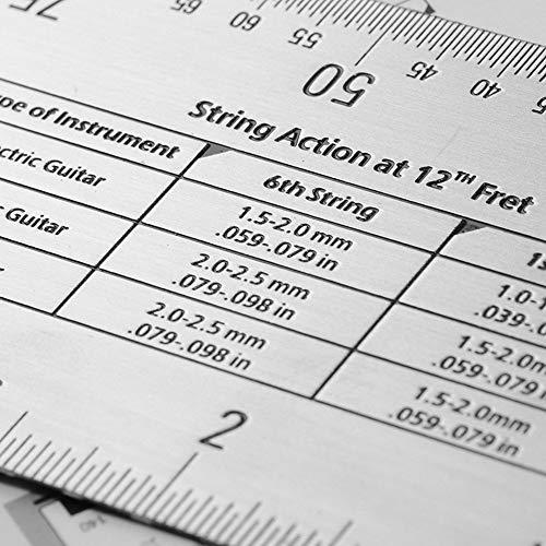 string action ruler gauge forever direct guitar set up tool for electric bass and acoustic. Black Bedroom Furniture Sets. Home Design Ideas