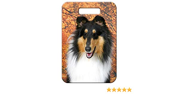 Canine Designs Set of 2 Collie Rough Luggage Tags