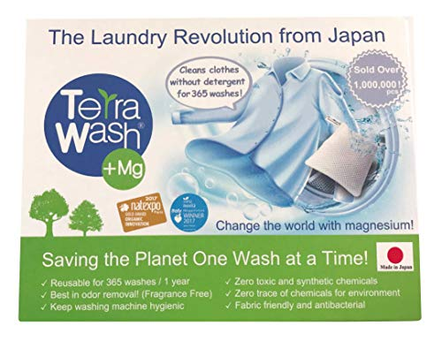 - Terra Wash + Mg Eco Laundry Sachet - Detergent Substitute - Reusable for 365 Washes !