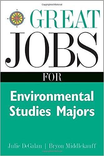 Great Jobs for Environmental Studies Majors by Julie DeGalan (2002-03-27)