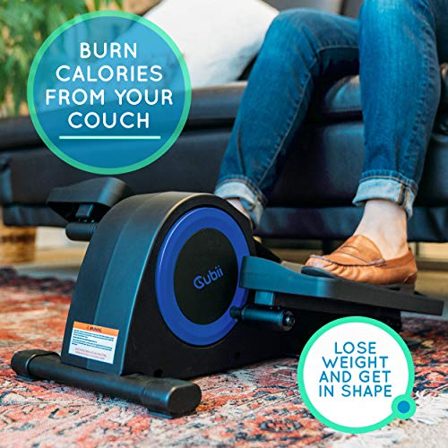 Cubii Jr: Desk Elliptical with Built in Display Monitor, Easy Assembly, Quiet & Compact, Adjustable Resistance (Royal Blue) by Cubii (Image #7)