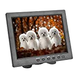 Sherosa HD 8' TFT LCD Monitor 1204768 VGA BNC Video Audio HDMI Input for PC, CCTV Security Camera Cam,VCD,DVD