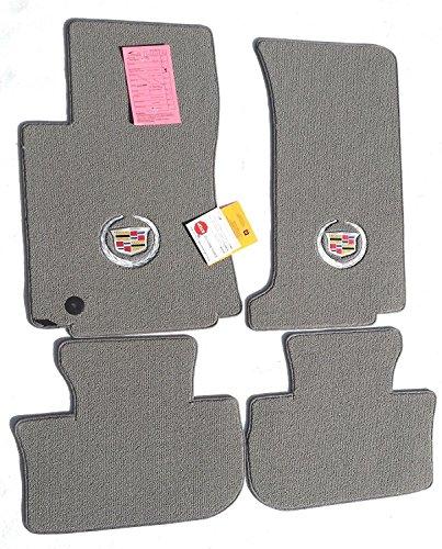 Lloyd Mats for Cadillac CTS Sedan or Wagon 2008-2013 AWD - Gray Carpet W/ Crest Logo on (Cadillac Cts Awd)