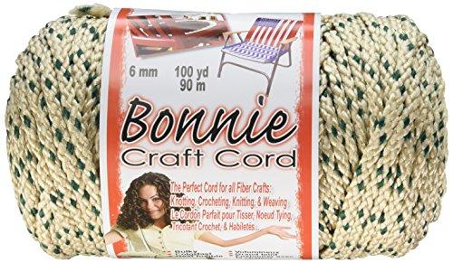 Pepperell 6mm Bonnie Macramé Craft Cord, 100-Yard, Forest Chip
