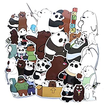 YLGG Cute Bear Moviendo Comic Stickers 42 X 3 Bolsas: Amazon ...