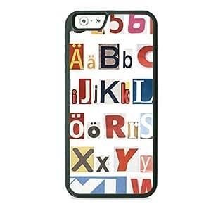 Case Fun Case Fun Alphabet TPU Rubber Back Case Cover for Apple iPhone 6 4.7 inch