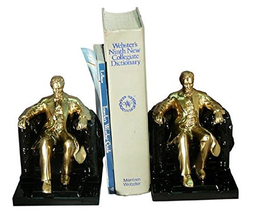 Pm Craftsman Lincoln In Chair Bookends Brass