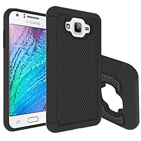 J7 Case, SUMOON [Drop Protection] [Shock Absorption] Hybrid Dual Layer Armor Defender Protective Case Cover for Samsung Galaxy J7 - Crystal Quilted Jacket