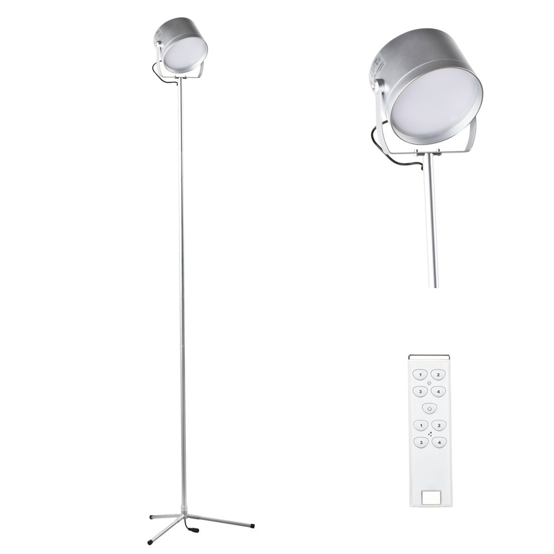 5 Feet LED Remote Control Led Floor Lamp For Living Room Bedroom 700 Lumens Bright White