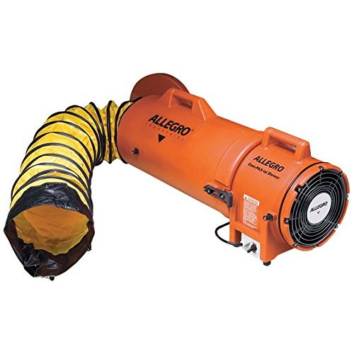 Allegro Blowers - Allegro Industries 9533‐25 Plastic Compaxial Blower, AC with 25' Ducting and Canister Assembly, 8