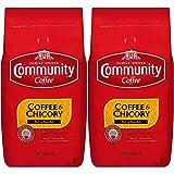 Community Coffee Premium Ground Coffee and Chicory, Medium-Dark Roast, 32 oz, (Pack of 2)