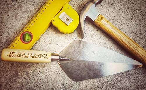 PLATTERS SLATE The Perfect Manly Builder/Brick Layer Gift Engraved Brick Trowel Dad Message Ideal Birthday Christmas Retirement