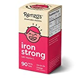 Renzo's Iron Strong, Vegan Supplement for Children, Zero Sugar, Oh-Oh-Oh Orange Flavor, 90 Melty Tabs