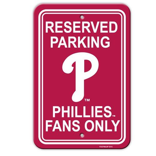 Fremont Die MLB Philadelphia Phillies Team Logo Plastic Parking Sign