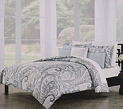 Nicole Miller Home Brocade Boho Paisley Print Bedding - Nicole Miller King Bedding