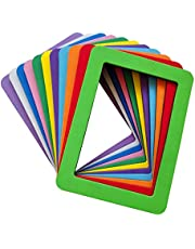 5x7 Magnetic Picture Frames for Refrigerator Thick Magnetic Frames 5x7 Strong Magnet Photo Frame Holder 5x7 Inch Colorful Magnetic Photo Picture Frame Magnets for Iron Material Surfaces Decor 11 Pack