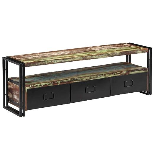 Tidyard - Mueble de TV Vintage | Armario para TV 120 x 30 x 40 cm ...
