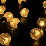 M&T TECH Solar String Lights Outdoor 30 LED Fairy Lights Warm White Globe Ball Lights for Patio ,Garden ,Wedding,Party,Bedroom