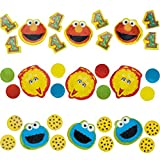 Amscan 1st Birthday Sesame Street Paper Confetti Mix Party Supplies (12 Piece), Multicolor, 1.5 Oz