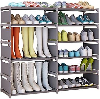 Sezione Stivali UDEAR Estante Zapatero Plegable Organizador de Tela de Zapatos Zapateros y hormas para Zapatos Gris