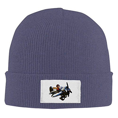 Airplane Knit Hat Slouchy Beanie Winter 2016 Ski Hat KnitHat TrilbyHat