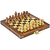 """Kriwin Collectible Folding Wooden Chess Game Board Set 8"""" X 8"""""""