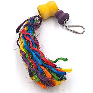 Difunisea Cotton Rope Parrot Toy - Bird Cage Toy for Playing and Preening Fits Small for Conures,African Grey,Conure Cockatiel,Aviary 21