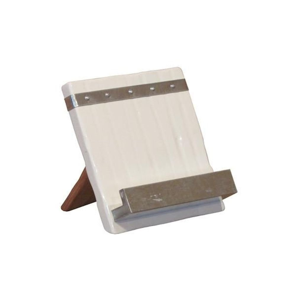 Wooden Cookbook Stand - iPad Holder - Bianca