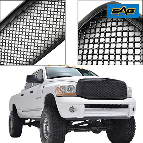 (EAG Front Ram Grille ABS Replacement Upper Full Grill for 06-08 Dodge Ram 1500)
