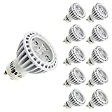 Elrigs Dimmable GU10 LED Bulbs 5W (40W Equivalent) Warm White(3000K) 10-Pack 45° Beam Angle 500lm