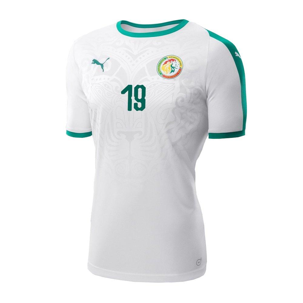 7b10feef636 Amazon.com: PUMA NIANG #19 Senegal Men's Home Jersey World Cup Russia 2018:  Clothing