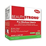 BeautyFit BeautyStrong, Pre-Workout Matrix For Women, Green Apple, Box (25 Packets/Servings)