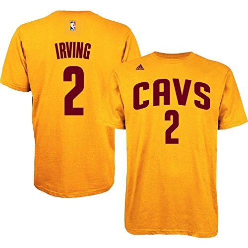 Kyrie Irving #2 Cleveland Cavaliers NBA Youth Player Name & Number T-shirt Gold (Youth Large 14/16)