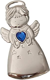 "product image for Gloria Duchin Angel Ornament with Blue Heart Stone 3 1/2"" Made in USA"