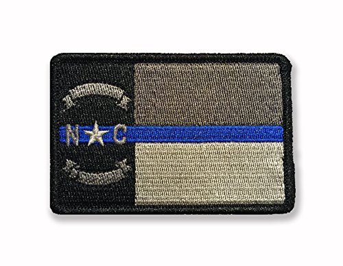 Subdued Thin Blue Line North Carolina State Flag Patch ()