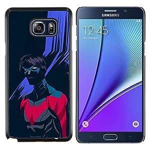 "Be-Star Único Patrón Plástico Duro Fundas Cover Cubre Hard Case Cover Para Samsung Galaxy Note5 / N920 ( Superhero Villano púrpura Arte Negro"" )"