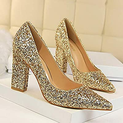 95e76fa68aa TWOMDE BIGTREE Shoes Women Pumps Spring Women High Heels Silver Gold ...
