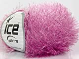 Orchid Pink Eyelash Lurex Sparkly Fur Yarn From Ice 18623