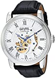 Gevril Men's 'Vanderbilt' Swiss Automatic Stainless Steel and Leather Casual Watch, Color:Black (Model: 2690)