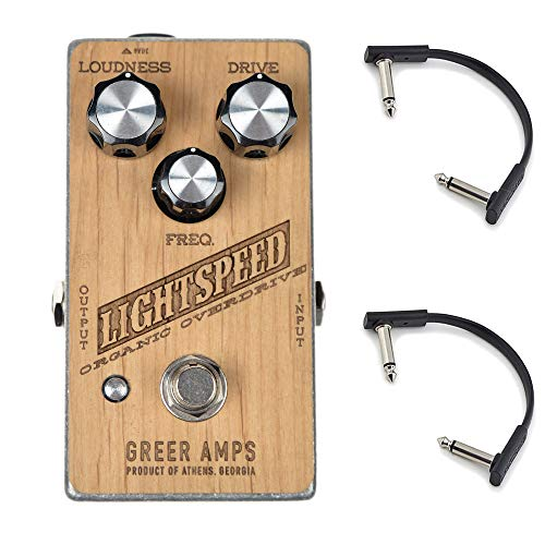 Greer Amps Lightspeed Organic Overdrive w/RockBoard Flat Patch Cables Bundle