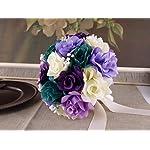 Bridal-Bouquet-10-Gem-Purple-Lavender-Ivory-Rose-with-Baby-Breath