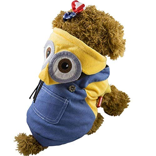 S-BBGPET Despicable Me Minion Pet Costume Clothes for Small Medium Large Dogs Winter Coat Warm Clothes]()